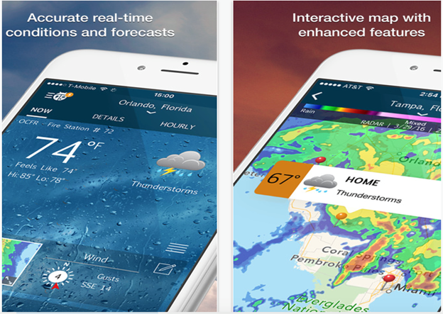 Weather Apps For Both Androids And iPhones That Are Gaining Popularity And Dependability