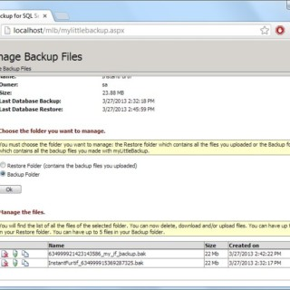 How to Backup Database and Files Easily